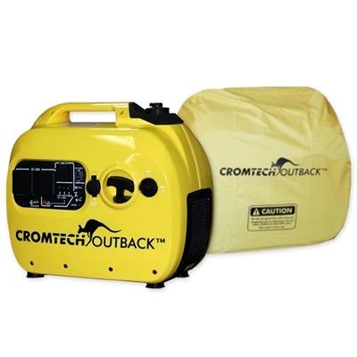 Cromtech Outback 2400w Inverter Generator with Cover, 1 year...