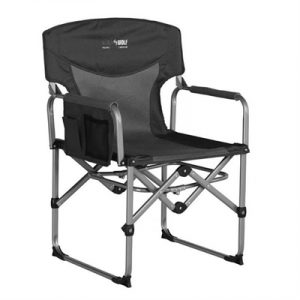 Black Wolf Compact Directors Chair - Charcoal