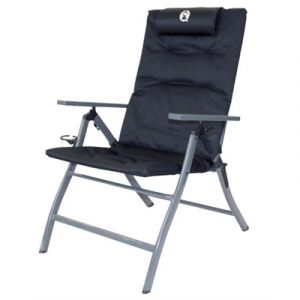 Coleman 5 Position Padded Chair - Black
