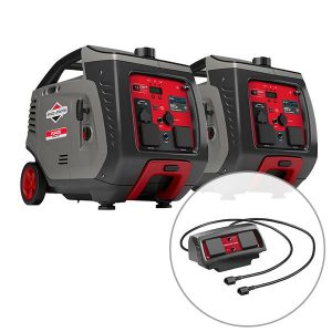 2 x Briggs & Stratton 3400w Inverter Generator with Parallel Kit (Combined 5100 Watts), 3 Year Warranty